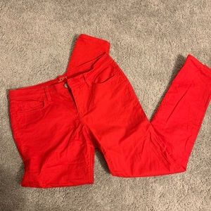 Red LOFT skinny jeans, size 30/10